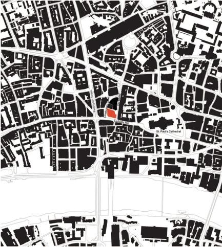 Dossier de presse | 2337-01 - Communiqué de presse | One New Ludgate - Fletcher Priest Architects - Commercial Architecture - One New Ludgate Location Plan<br> - Crédit photo : Fletcher Priest<br>