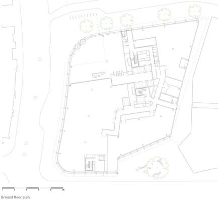 Dossier de presse | 2337-01 - Communiqué de presse | One New Ludgate - Fletcher Priest Architects - Commercial Architecture - One New Ludgate Ground Floor Plan<br> - Crédit photo : Fletcher Priest