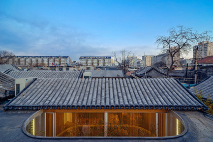 Press kit | 2264-01 - Press release | Tea House in Hutong - Arch Studio - Commercial Interior Design - Roof - Photo credit: Wang Ning