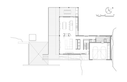 Press kit | 880-11 - Press release | Estrade Residence - MU Architecture - Residential Architecture - First floor plan - Photo credit: MU Architecture