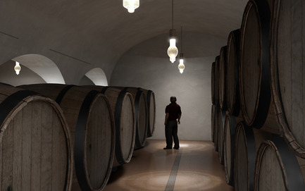 Press kit | 2219-01 - Press release | Winery in Chianti - IB Studio _ Arch. Invernizzi & Bonzanigo - Commercial Architecture - ageing area - Photo credit: IB Studio _ Arch. Invernizzi & Bonzanigo