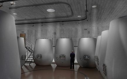 Press kit | 2219-01 - Press release | Winery in Chianti - IB Studio _ Arch. Invernizzi & Bonzanigo - Commercial Architecture - fermentation area - Photo credit: IB Studio _ Arch. Invernizzi & Bonzanigo