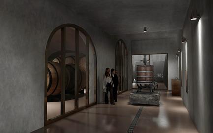 Press kit | 2219-01 - Press release | Winery in Chianti - IB Studio _ Arch. Invernizzi & Bonzanigo - Commercial Architecture - pressing area - Photo credit: IB Studio _ Arch. Invernizzi & Bonzanigo
