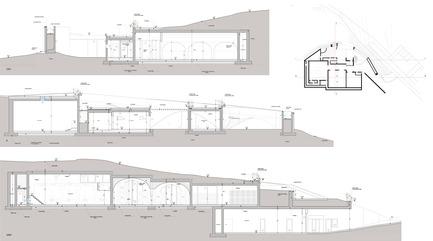Press kit | 2219-01 - Press release | Winery in Chianti - IB Studio _ Arch. Invernizzi & Bonzanigo - Commercial Architecture - sections - Photo credit: IB Studio _ Arch. Invernizzi & Bonzanigo