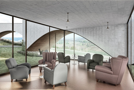 Press kit | 2219-01 - Press release | Winery in Chianti - IB Studio _ Arch. Invernizzi & Bonzanigo - Commercial Architecture - tasting & selling area - Photo credit: IB Studio _ Arch. Invernizzi & Bonzanigo