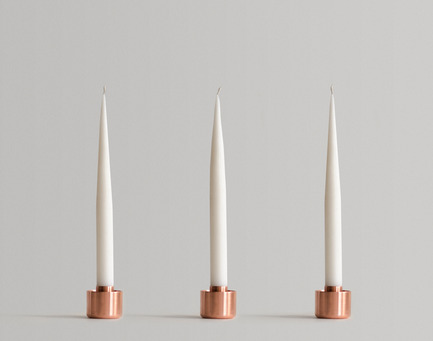 Press kit | 2141-01 - Press release | Objetik: An Online Space for Quebec Design - Objetik - Industrial Design - Copper Candle Holder - Photo credit: Aubry / Levesque