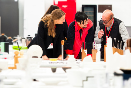 Press kit | 1696-14 - Press release | Last chance to enter – Red Dot Award: Product Design 2017 closing date for entries is 8 February - Red Dot Award - Competition -  An international jury discusses and assesses each  product in situ.<br> - Photo credit: Red Dot<br>
