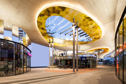 Press kit | 2274-01 - Press release | Shopping Nord Graz - BEHF Architects - Commercial Architecture - Two new glazed pavilions under a striking canopy-like roof - Photo credit: Markus Kaiser