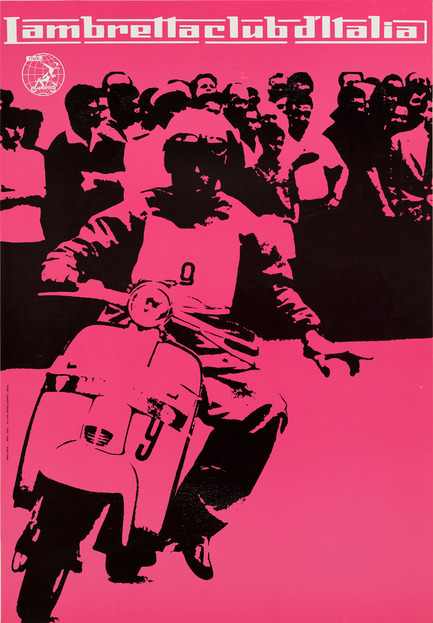 "Press kit | 748-30 - Press release | Journey into the World of Italian Graphic Designer Heinz Waibl at the UQAM Centre de Design - UQAM Centre de Design - Event + Exhibition - Manifesto ""Lambretta club d'Italia""<br><br> - Photo credit: Milano, 1959&nbsp;<br>stampa offset su carta&nbsp;<br>67,5 x 47 cm&nbsp;"