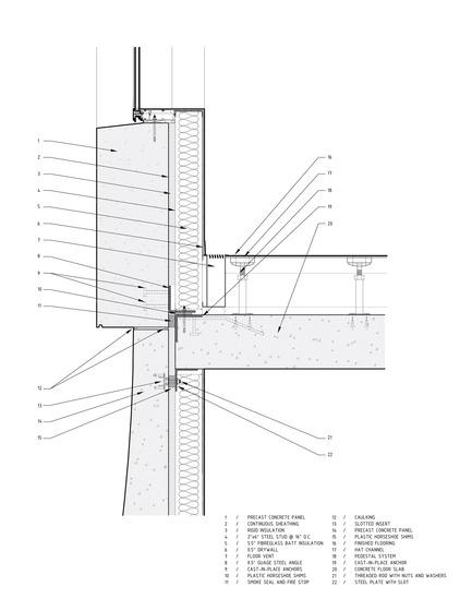 Dossier de presse | 2045-01 - Communiqué de presse | Batay-Csorba Architects Reimagines the Precast Concrete Building in Toronto - Batay-Csorba Architects - Commercial Architecture - Construction Detail - Crédit photo : Batay-Csorba Architects