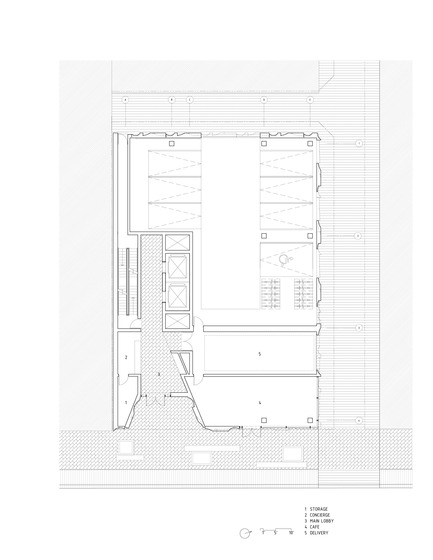 Dossier de presse | 2045-01 - Communiqué de presse | Batay-Csorba Architects Reimagines the Precast Concrete Building in Toronto - Batay-Csorba Architects - Commercial Architecture - Ground Floor Plan - Crédit photo : Batay-Csorba Architects