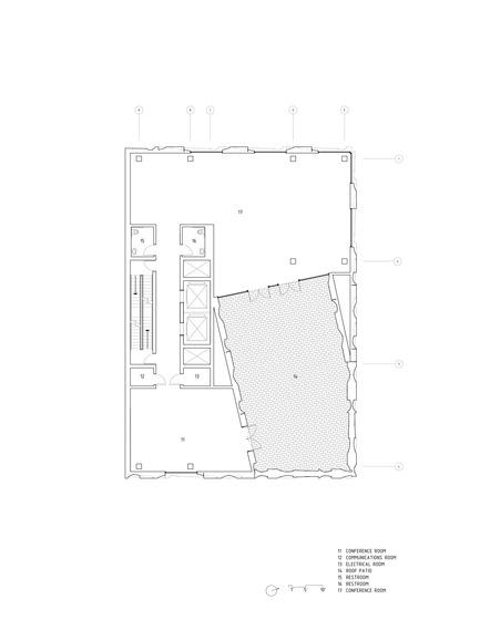Dossier de presse | 2045-01 - Communiqué de presse | Batay-Csorba Architects Reimagines the Precast Concrete Building in Toronto - Batay-Csorba Architects - Commercial Architecture - Roof Plan - Crédit photo : Batay-Csorba Architects