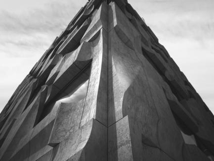 Dossier de presse | 2045-01 - Communiqué de presse | Batay-Csorba Architects Reimagines the Precast Concrete Building in Toronto - Batay-Csorba Architects - Commercial Architecture - Corner Detail - Crédit photo : Batay-Csorba Architects