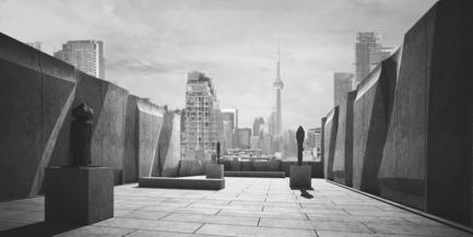Dossier de presse | 2045-01 - Communiqué de presse | Batay-Csorba Architects Reimagines the Precast Concrete Building in Toronto - Batay-Csorba Architects - Commercial Architecture - Roof Top Sculpture Garden - Crédit photo : Batay-Csorba Architects