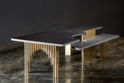 Press kit | 1834-11 - Press release | Design Days Dubai Announces 2017 Edition - Dubai Design Week - Event + Exhibition - Bunyan Table designed by Misreen &amp; Nermeen Abu Dail<br> - Photo credit: Image courtesy of Misreen &amp; Nermeen Abu Dail<br>