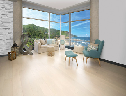 Press kit | 1639-06 - Press release | Spotlight on New Colours, Character and Lengths for 2017 at Mirage Floors - Mirage Hardwood Floors - Product -  Maple Cape Cod, Admiration Collection - Photo credit:  Mirage Hardwood Floors