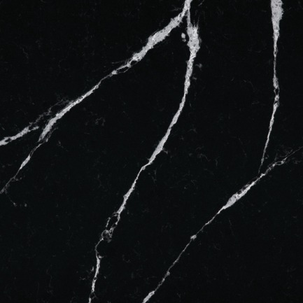 Press kit | 2349-01 - Press release | Silestone Unveils Eternal Collection with new N-Boost Technology - Cosentino - Product - Slab swatch of Silestone by Cosentino's Eternal Marquina<br> - Photo credit: Cosentino