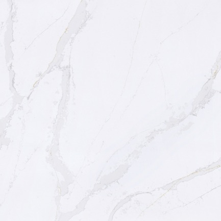 Press kit | 2349-01 - Press release | Silestone Unveils Eternal Collection with new N-Boost Technology - Cosentino - Product - Slab swatch of Silestone by Cosentino's Eternal Calacatta Gold<br> - Photo credit: Cosentino