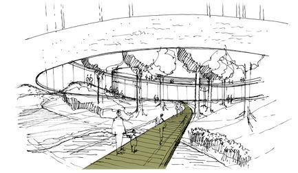 Press kit | 1249-01 - Press release | The Wangari Muta Maathai House - Boogertman + Partners Architects - Institutional Architecture - Wangari Muta Maathai House - Sketch 2 - Photo credit: Boogertman + Partners Architects