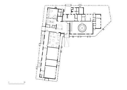 Press kit   2341-01 - Press release   Torsby Finnskogscentrum - Bornstein Lyckefors arkitekter - Commercial Architecture - Plan - Photo credit: Bornstein Lyckefors arkitekter