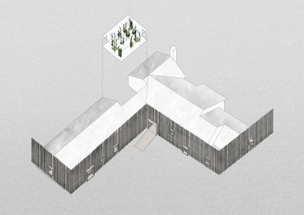 Press kit   2341-01 - Press release   Torsby Finnskogscentrum - Bornstein Lyckefors arkitekter - Commercial Architecture - Axonometric - Photo credit: Bornstein Lyckefors arkitekter
