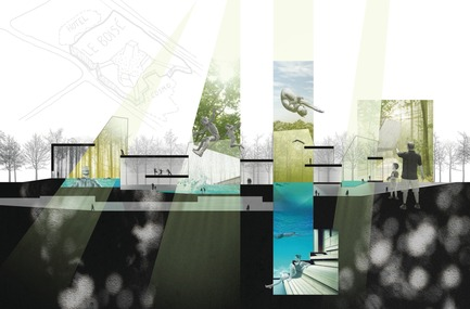 Press kit | 752-04 - Press release | NFOE/ HCMA Awarded Complexe Aquatique de Laval - NFOE/ HCMA consortium - Institutional Architecture - Pre-concept - vision - inspiration - Photo credit: City of Laval