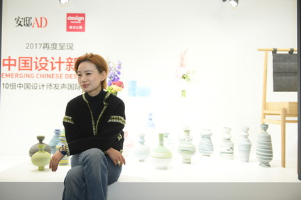 Press kit | 1594-04 - Press release | Asia's Leading Design Event Opened its Doors Yesterday to Record Crowds - Design Shanghai - Event + Exhibition - Emerging Chinese Designer Platform - Qingtong Qian, founder and designer of minimaïst - Photo credit: Design Shanghai