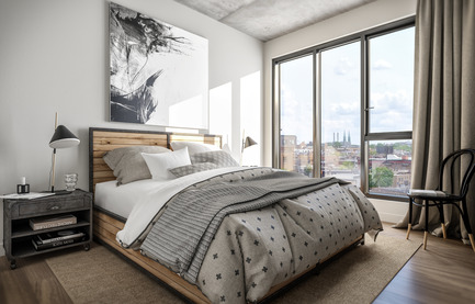 Press kit | 2056-05 - Press release | DevMcGill and TGTA Unveil the Design of the All-New Ateliers Castelnau Condominium Project, in the Heart of Mile-Ex - DevMcGill & TGTA - Real Estate - Bedroom - Photo credit:  DevMcGill