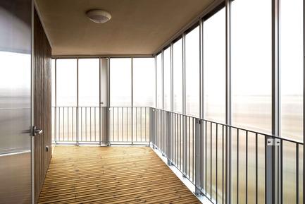 Press kit | 2372-01 - Press release | Résidence de l'Aqueduc in Gentilly / France - Daquin & Ferrière Architecture - Residential Architecture -   Residence de l'Aqueduc - Gentilly / France <br>DAQUIN & FERRIERE ARCHITECTURE  <br>Inside Cabin<br> - Photo credit: Hervé Abbadie