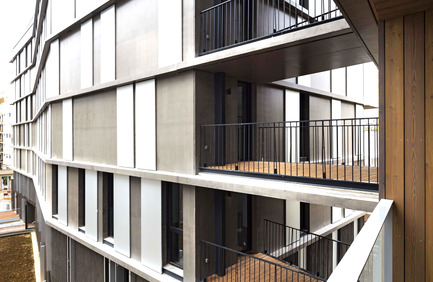 Press kit | 2372-01 - Press release | Résidence de l'Aqueduc in Gentilly / France - Daquin & Ferrière Architecture - Residential Architecture - Residence de l'Aqueduc - Gentilly / France <br>DAQUIN & FERRIERE ARCHITECTURE  - Photo credit: Hervé Abbadie