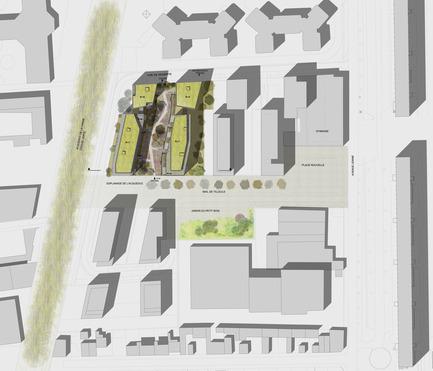 Press kit | 2372-01 - Press release | Résidence de l'Aqueduc in Gentilly / France - Daquin & Ferrière Architecture - Residential Architecture -  Residence de l'Aqueduc - Gentilly / France <br>DAQUIN & FERRIERE ARCHITECTURE  <br>Master plan<br> - Photo credit: -