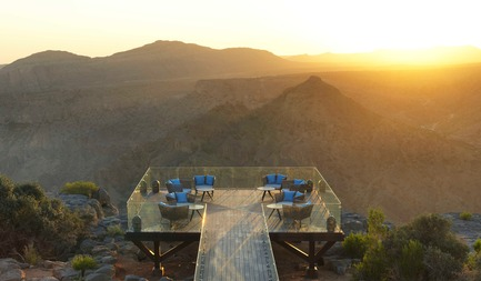 Press kit | 2177-02 - Press release | Lotfi Sidirahal from Atelier Pod Designs the Highest Five Star Resort in the Middle East: Anantara Jabal Akhdar - Atelier Pod - Lifestyle - Diana's Point - Photo credit: Anantara Jabal Akhdar