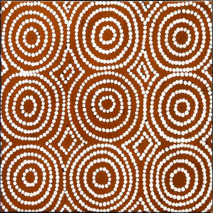 Dossier de presse | 2399-01 - Communiqué de presse | My Country: Design With Origin - Bay Gallery Home - Residential Interior Design -  Bay Gallery Home, My Country Bush Onion 1 ceramic wall tile. From an original Australian Aboriginal artwork. - Crédit photo : Bay Gallery Home