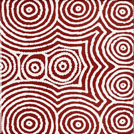 Dossier de presse | 2399-01 - Communiqué de presse | My Country: Design With Origin - Bay Gallery Home - Residential Interior Design - Bay Gallery Home, My Country Bush Onion 2 ceramic wall tile, end tile design. From an original Australian Aboriginal artwork. - Crédit photo : Bay Gallery Home