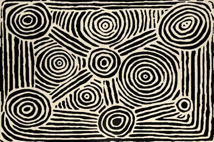 Dossier de presse | 2399-01 - Communiqué de presse | My Country: Design With Origin - Bay Gallery Home - Residential Interior Design - Bay Gallery Home, My Country Mina Mina Dreaming 100% Goodweave rug. Made from an original Australian Aboriginal artwork. - Crédit photo : Bay Gallery Home