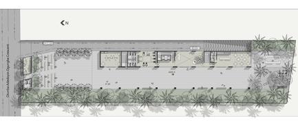 Dossier de presse | 2346-01 - Communiqué de presse | Sustainable Otunba Offices Receives Commendation in AR Future Projects Awards - Domaine Public Architects - Commercial Architecture - Ground Floor Plan - Crédit photo : Domaine Public Architects
