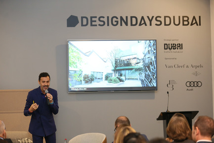 Press kit | 1834-13 - Press release | Design Days Dubai Completes its Sixth and Most Successful Edition in its New Location, d3 - Design Days Dubai - Event + Exhibition - DDD2017_Fabio Novembre during his talk  - Photo credit: Image Courtesy of Design Days Dubai
