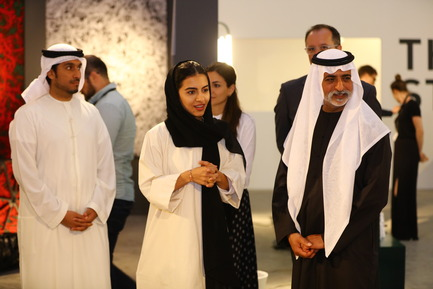 Press kit | 1834-13 - Press release | Design Days Dubai Completes its Sixth and Most Successful Edition in its New Location, d3 - Design Days Dubai - Event + Exhibition - DDD2017_Sheikh Nahyan at the Atlas Bookstore - Photo credit: Image Courtesy of Design Days Dubai