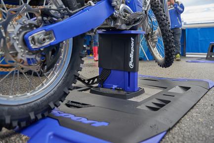 Press kit | 2468-01 - Press release | Foldable Lift Bike Stand - Polisport Plásticos SA - Product - Foldable Bike Stand paddock - Photo credit: Polisport Plásticos SA