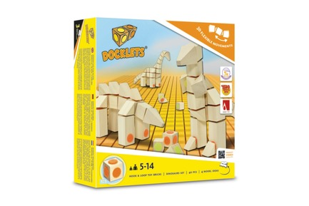Press kit | 2450-01 - Press release | DOCKLETS - Innovative Hook and Loop Toy Bricks for Agile 3D Constructions - TPPD / Thade Precht Playful Design - Product - DOCKLETS Dinosaurs Set - Photo credit: TPPD / Thade Precht Playful Design