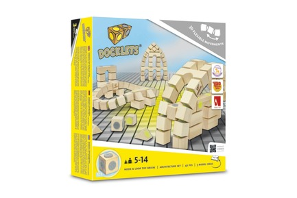 Press kit | 2450-01 - Press release | DOCKLETS - Innovative Hook and Loop Toy Bricks for Agile 3D Constructions - TPPD / Thade Precht Playful Design - Product - DOCKLETS Architecture Set - Photo credit: TPPD / Thade Precht Playful Design