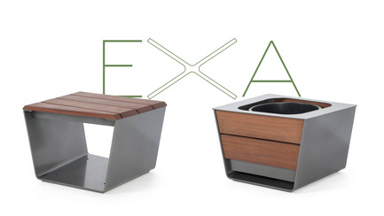 Press kit | 821-03 - Press release | The EXA Collection: An Outside-the-Box Approach to the Modular Cube - Equiparc / Marc BoudreauDesigner - Product - Bench EP 1051 <br>Planter EP 4050  - Photo credit: Equiparc