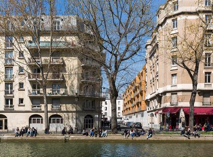 Dossier de presse | 2388-01 - Communiqué de presse | LESS - L'amplificateur urbain - AAVP ARCHITECTURE - Architecture résidentielle - Vue depuis le canal Saint-Martin - Crédit photo : © Luc Boegly