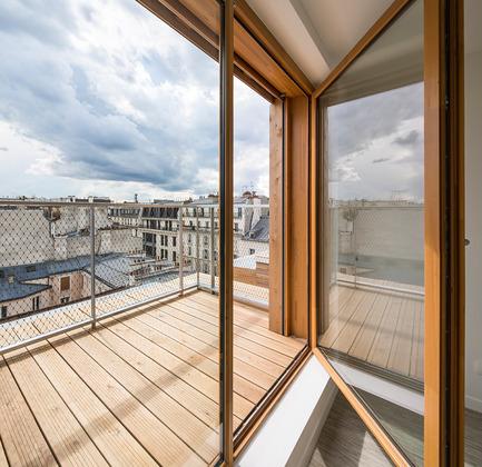 Dossier de presse | 2388-01 - Communiqué de presse | LESS - L'amplificateur urbain - AAVP ARCHITECTURE - Architecture résidentielle - Détails des balcons - Crédit photo : © Luc Boegly