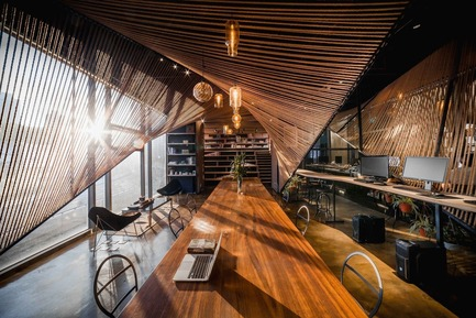 Press kit | 1071-06 - Press release | Announcing the Winners of the 5th Annual Architizer A+ Awards - Architizer - Competition -         Rope Wave Office by Jing-Rui Lin (Atelier Ten) - Popular Choice Winner, Coworking Space - Photo credit: Courtesy of Jing-Rui Lin (Atelier Ten)