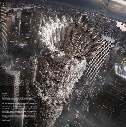 Dossier de presse | 1127-13 - Communiqué de presse | Winners 2017 eVolo Skyscraper Competition - eVolo Magazine - Competition - Human Castell - honorable mention - Crédit photo : Tamin Song, Jin Woo Kuk, Sun Hee Yoo, Bruce Han, Gangmin Yoo, Jun Sun Baek