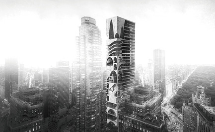 Dossier de presse | 1127-13 - Communiqué de presse | Winners 2017 eVolo Skyscraper Competition - eVolo Magazine - Competition - Arch Skyscraper - honorable mention - Crédit photo : Wenjia Li, Ran Huo, Jing Ju
