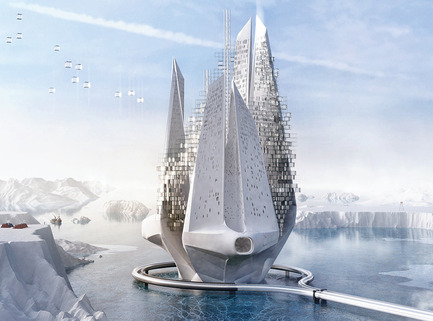 Dossier de presse | 1127-13 - Communiqué de presse | Winners 2017 eVolo Skyscraper Competition - eVolo Magazine - Competition - Heal-Berg: Reverse Climate Changing Machine - honorable mention - Crédit photo : Luca Beltrame, Saba Nabavi Tafreshi