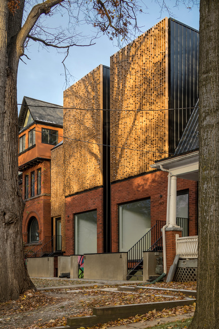 Press kit | 2045-02 - Press release | Double Duplex - Batay-Csorba Architects - Residential Architecture - Front Facade - Photo credit: Doublespace Photography