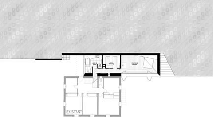 Press kit | 2433-01 - Press release | Maison SPE - ELLENA MEHL Architectes - Residential Architecture - main floor plan - Photo credit:  ELLENA MEHL ARCHITECTS